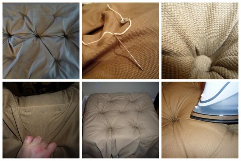 Подушка с каретной стяжкой своими руками