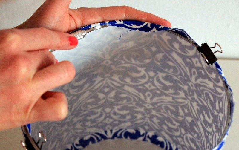 Как обтягивать абажур тканью своими руками