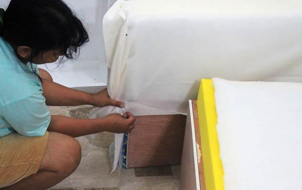 обшиваем тканью