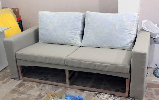 готовый диван своими руками