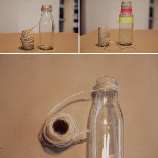 Поделка из банки или бутылки